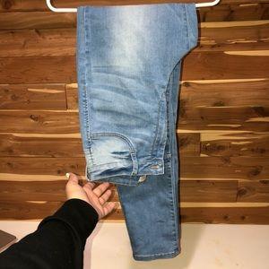 VERY stretchy light wash skinny jeans